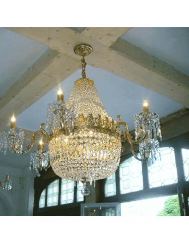 Kroonluchter met speciale lampjes