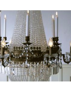Kroonluchter met kaarsen...